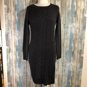 Ivanka Trump knit sweater dress dark gray size S